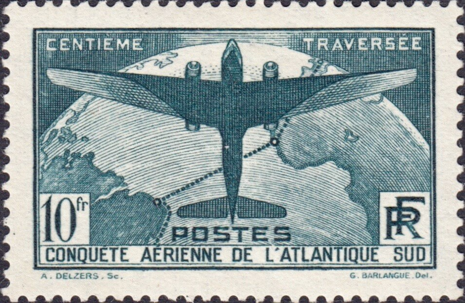 100th Flight between France & S. America SG554 Latecoere 300 Flying Boat