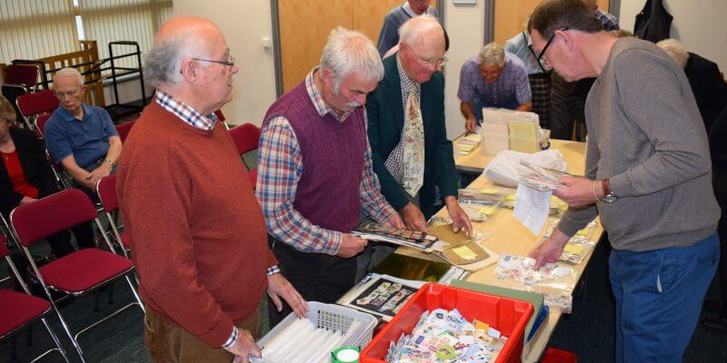 Northwich Philatelic Society members bring, buy & exchange May 2017